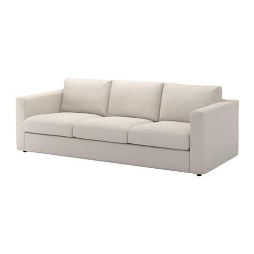 Vimle 3 seat sofa gunnared beige ikea for Sofa 5 plazas medidas