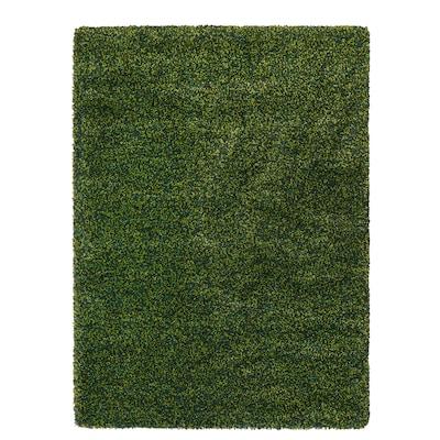 VINDUM Rug, high pile, green, 133x180 cm