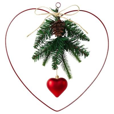 VINTER 2020 Decoration, wreath, heart-shaped, 30 cm
