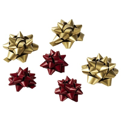 VINTER 2020 Gift bow, red/gold-colour