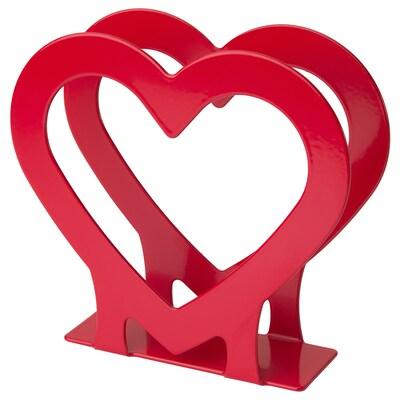 VINTER 2020 Napkin holder, heart-shaped red