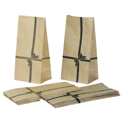 VINTER 2020 Paper bag, brown, 15x30 cm