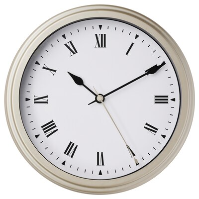 VISCHAN Wall clock, beige, 30 cm