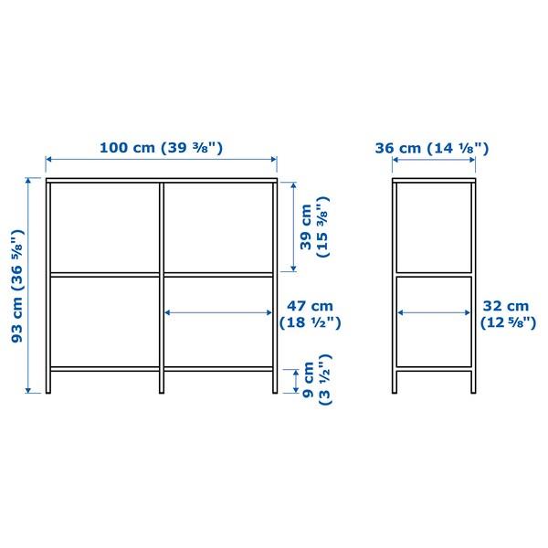 VITTSJÖ shelving unit black-brown/glass 30 kg 100 cm 36 cm 93 cm 15 kg