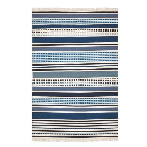 VONSILD rug, flatwoven handmade assorted blue shades 300 cm 200 cm 4 mm 6.00 m² 1100 g/m²