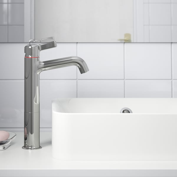 VOXNAN Wash-basin mixer tap, tall, chrome-plated