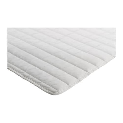 VYSSA TULTA Mattress pad IKEA Machine-washable - easy to keep clean.  Air can circulate through the pad, which gives a pleasant sleeping environment.