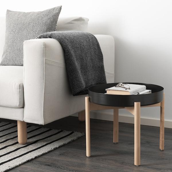 YPPERLIG Coffee table, dark grey/birch, 50 cm