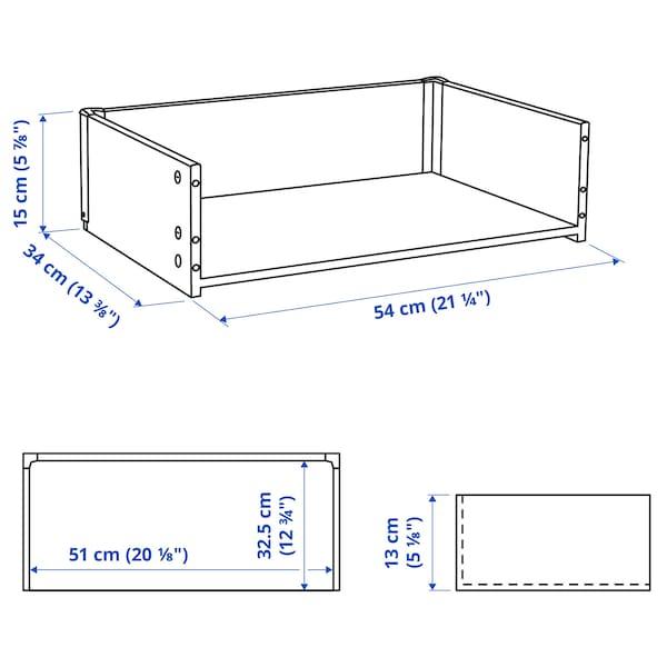 BESTÅ Okvir predala, imitacija beljenega hrasta, 60x15x40 cm