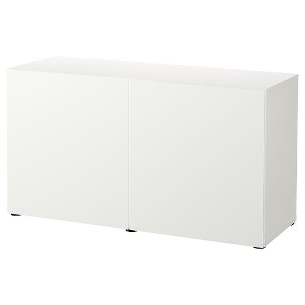 BESTÅ Pohištveni sestav z vrati, bela/Lappviken bela, 120x42x65 cm