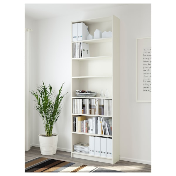 BILLY Knjižna omara, bela, 80x28x237 cm