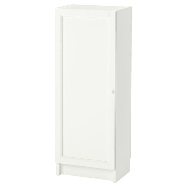 BILLY / OXBERG Knjižna omara z vrati, bela, 40x30x106 cm
