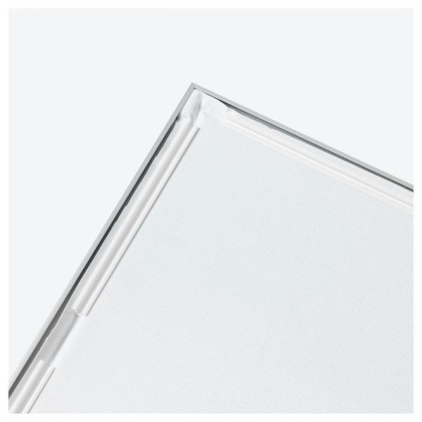 BJÖRKSTA Slika z okvirjem, Rožnata potonika/barva aluminija, 140x56 cm