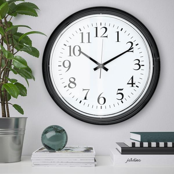 BRAVUR Stenska ura, črna