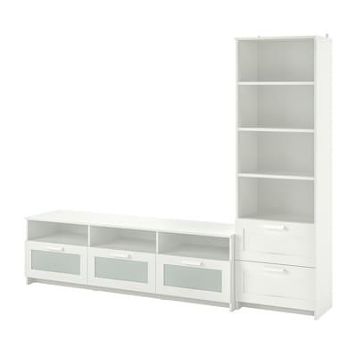 BRIMNES Pohištveni sestav za TV, bela, 240x41x190 cm