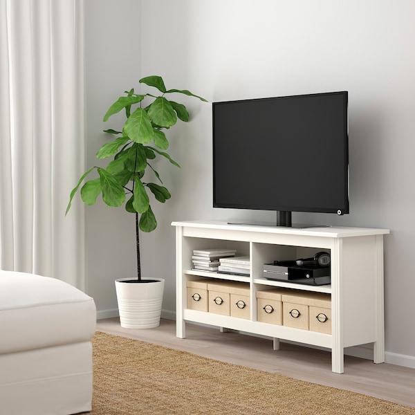 BRUSALI TV-omarica, bela, 120x36x62 cm