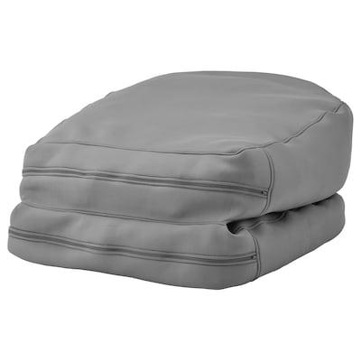 BUSSAN Sedežna vreča, not/zun, siva