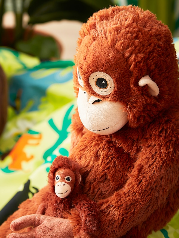 DJUNGELSKOG Plišasta igrača, orangutan
