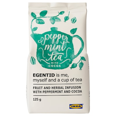 EGENTID Sadno-zeliščna čajna mešanica, poprova meta/kakav/UTZ-certificirano, 125 g