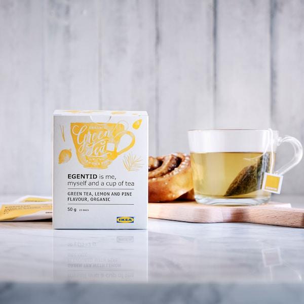 EGENTID Zeleni čaj, limona/bor/UTZ-certificirano/ekološko, 50 g