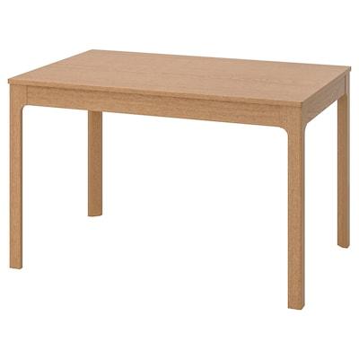 EKEDALEN Raztegljiva miza, hrast, 120/180x80 cm