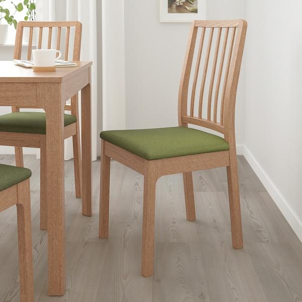 EKEDALEN Stol, hrast/Orrsta olivno zelena