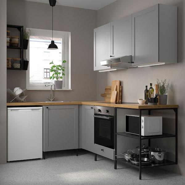 ENHET Kotna kuhinja, antracit/siva okvir