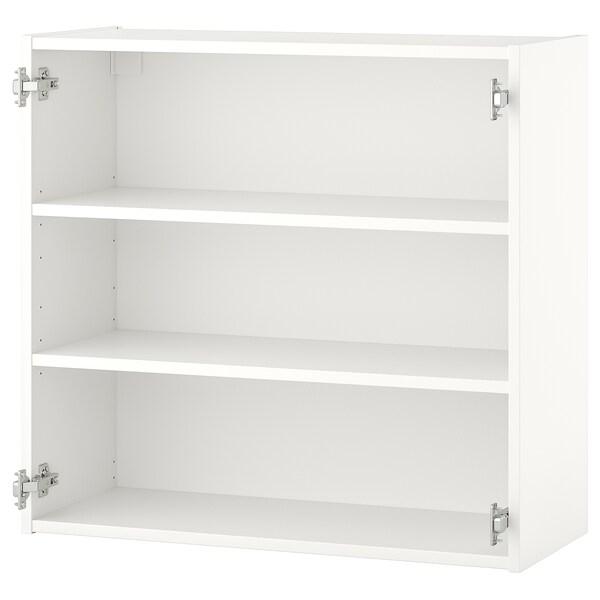 ENHET Viseča omarica z 2 policama, bela, 80x30x75 cm