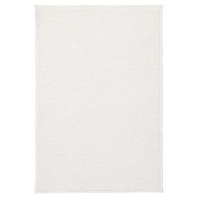 FINTSEN Kopalniška preproga, bela, 40x60 cm