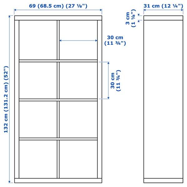 FLYSTA Regal, bela, 69x132 cm