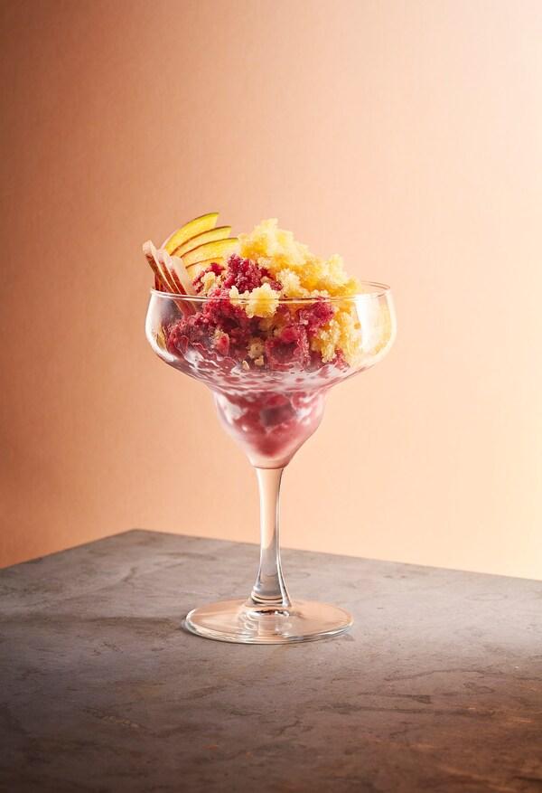 FRUKTSTUND Pripravljena mešanica za smoothie, mango/ananas z morsko krhliko/zamrznjeno, 420 g