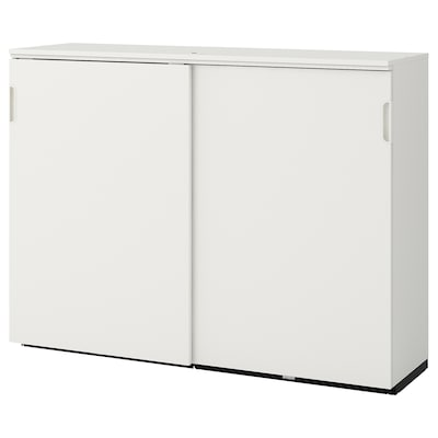 GALANT Omarica z drsnimi vrati, bela, 160x120 cm