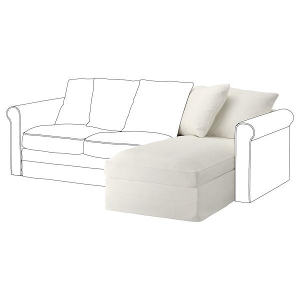 GRÖNLID Prevleka za element počivalnik, Inseros bela