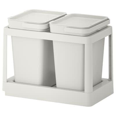 HÅLLBAR Sistem za ločevanje odpadkov, z izvlekom/svetlo siva, 20 l