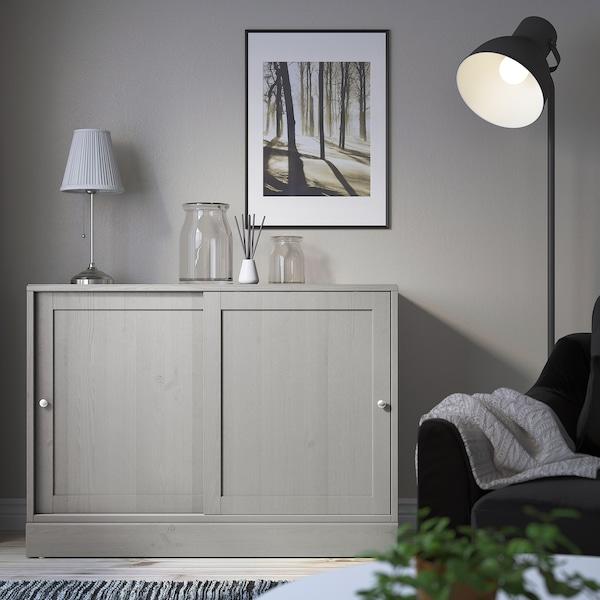 HAVSTA Omarica s podnožjem, siva, 121x47x89 cm