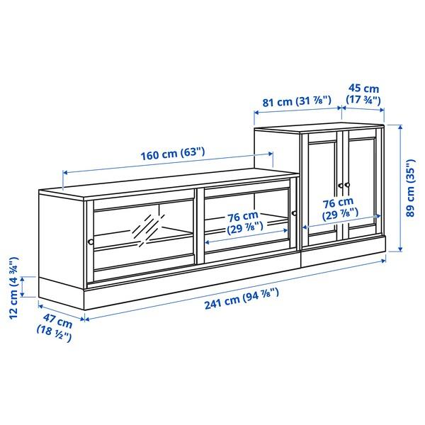 HAVSTA Pohištveni sestav za TV, bela, 241x47x89 cm