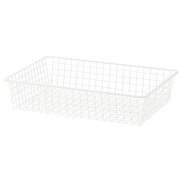 HJÄLPA Žična košara, bela, 80x55 cm