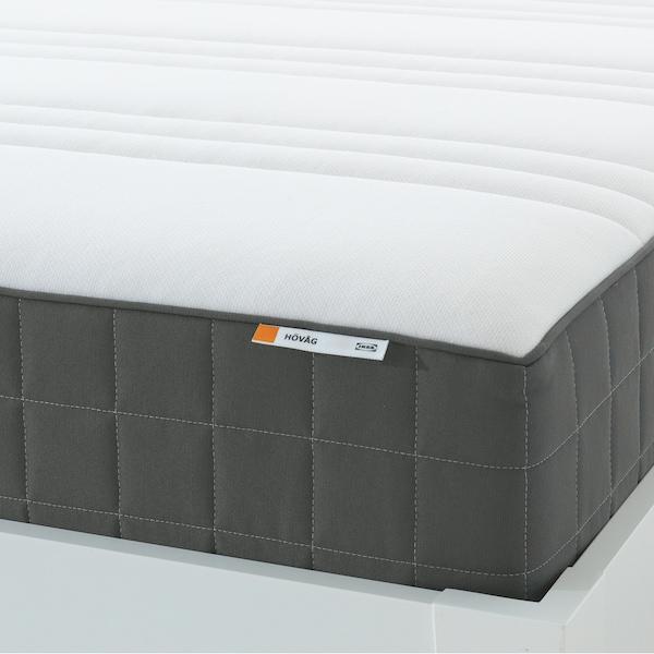 HÖVÅG Vzmetnica z žepkastimi vzmetmi, zelo čvrst/temno siva, 140x200 cm