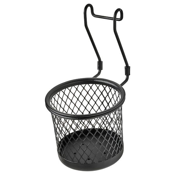 HULTARP Posoda, črna/mreža, 14x16 cm