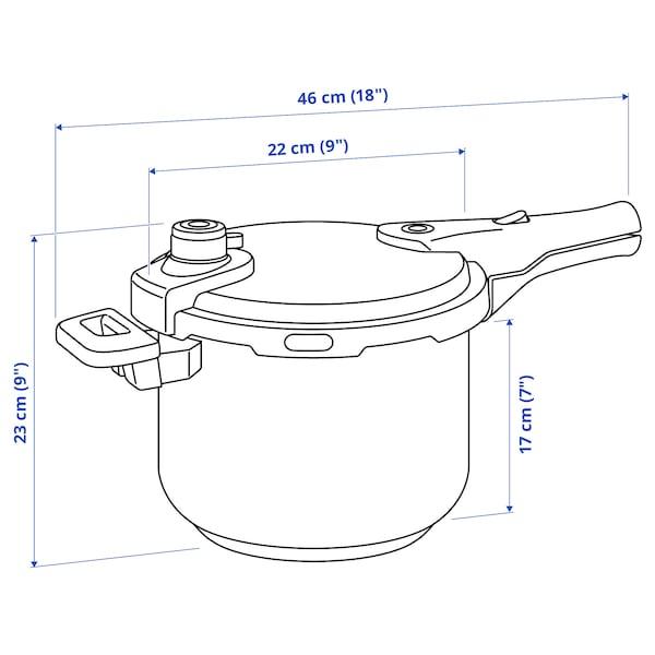 IKEA 365+ Lonec na zvišan pritisk, nerjaveče jeklo, 6 l