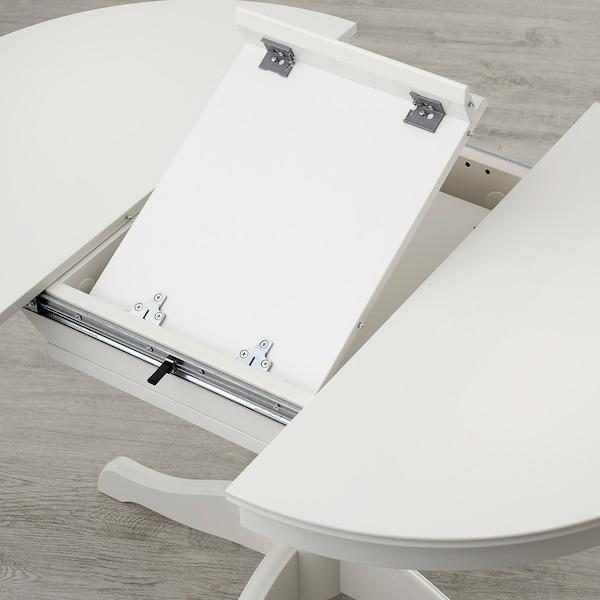 INGATORP Raztegljiva miza, bela, 90/125 cm