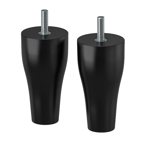 KABBARP Noga, črna, 10 cm