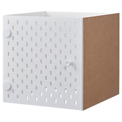 KALLAX Vstavek s perforirano ploščo, bela, 33x33 cm