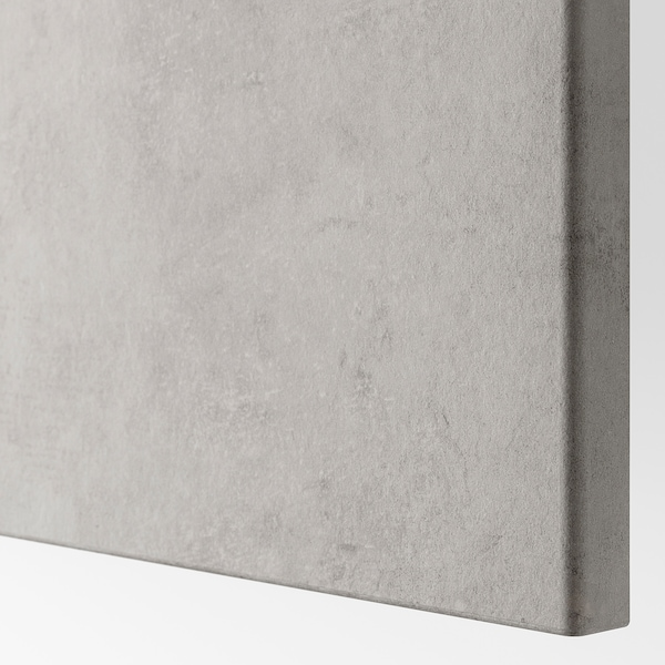 KALLVIKEN Vrata/ličnica predala, svetlo siva imitacija betona, 60x38 cm