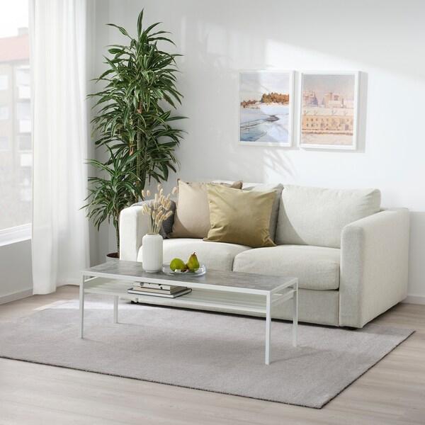 KNARDRUP Preproga, nizek flor, svetlo siva, 160x230 cm