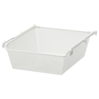KOMPLEMENT Mrežna košara z izvlečnimi vodili, bela, 50x58 cm