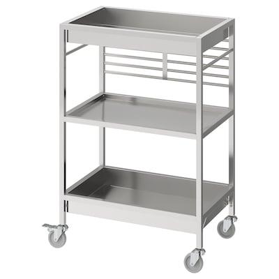 KUNGSFORS Kuhinjski voziček, nerjaveče jeklo, 60x40 cm