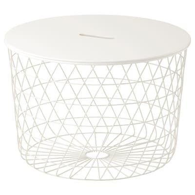 KVISTBRO Miza s prostorom za shranjevanje, bela, 61 cm