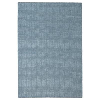LANGSTED Preproga, nizek flor, svetlo modra, 133x195 cm