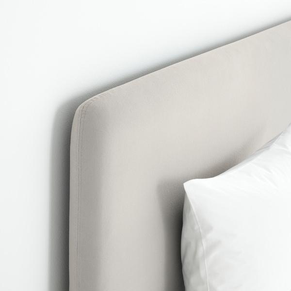 LAUVIK Divanska postelja, Hafslo čvrst/Talgje bež, 160x200 cm